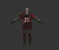 银行抢劫犯 面具小丑 手绘模型低模 快来下载吧
