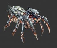 蜘蛛精 银灰色蜘蛛怪 简单模型手绘贴图来下载吧
